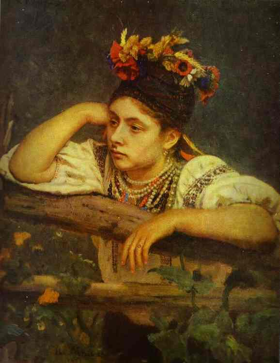 Ukranian Girl 1875 | Ilya Repin | Oil Painting