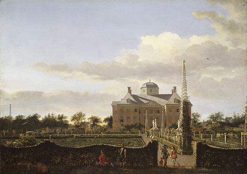 The Huis ten Bosch Seen from the Back | Jan van der Heyden | Oil Painting