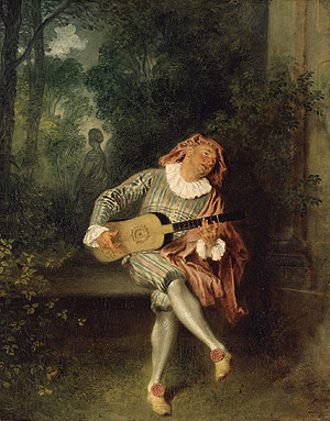 Mezzetin probably 1718 | Jean Antoine Watteau | Oil Painting