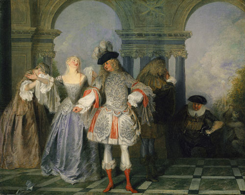 The French Comedians 1720 | Jean Antoine Watteau | Oil Painting