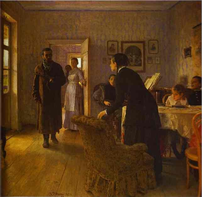 Unexpected Return 1884 | Ilya Repin | Oil Painting
