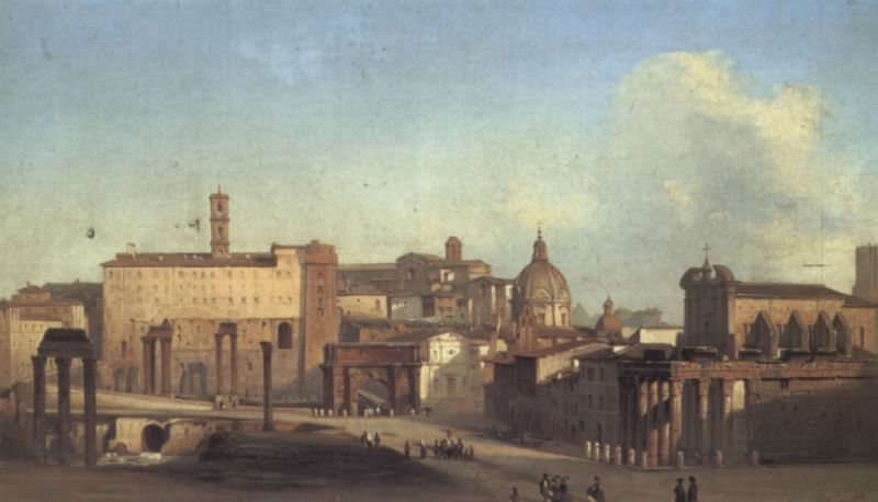 A View of the Forum | Ippolito Caffi | Oil Painting