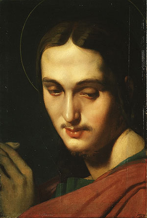 Head of Saint John the Evangelist 1818 | Jean Auguste Dominique Ingres | Oil Painting