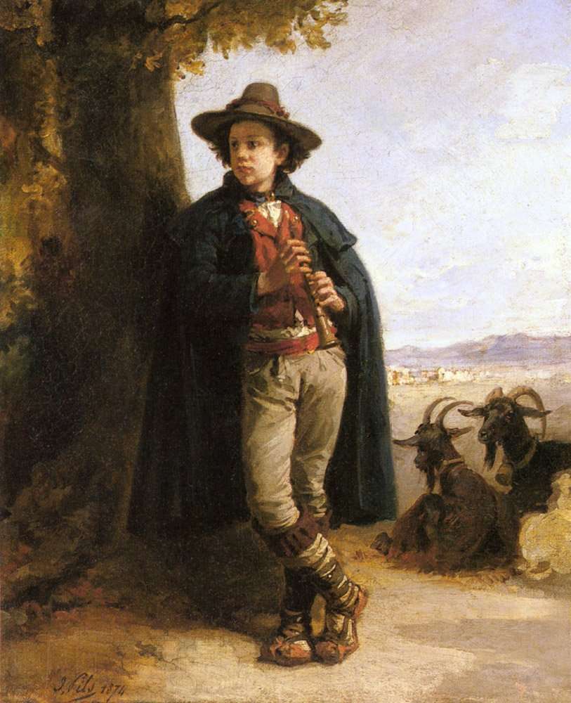 The Shepherd Boy | Isidore Pils | Oil Painting
