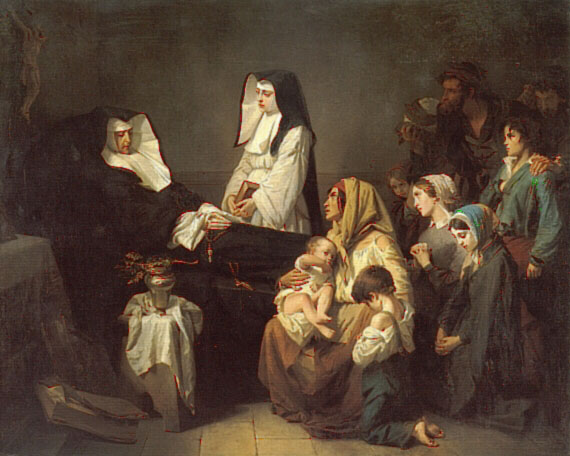 The Death of a Sister of Charity | Isidore Pils | Oil Painting