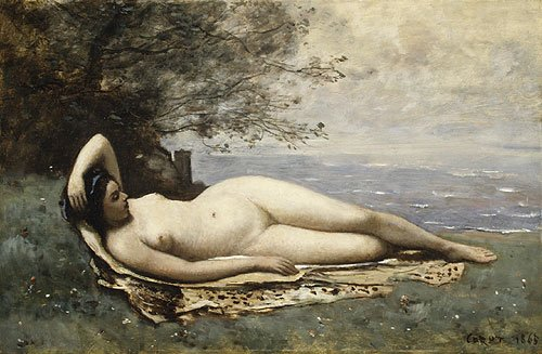Bacchante by the Sea 1865 | Jean Baptiste Camille Corot | Oil Painting