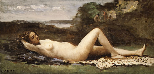 Bacchante in a Landscape 1865 | Jean Baptiste Camille Corot | Oil Painting
