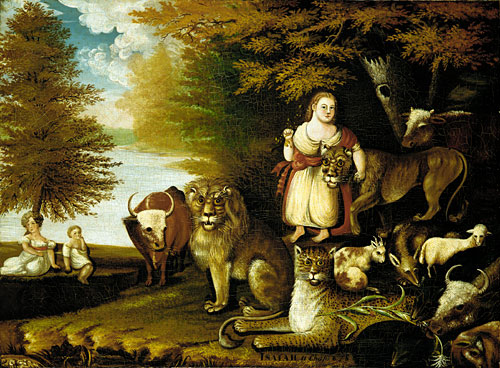 Peaceable Kingdom 1830 | Edward Hicks | Oil Painting