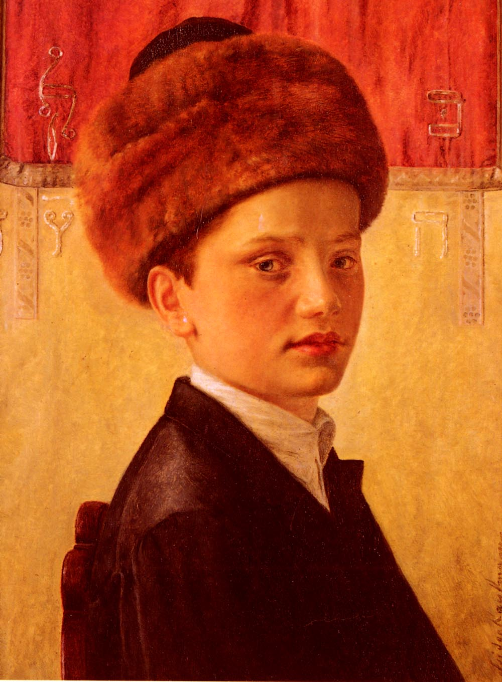 Portrati of a Young Chassidic Boy | Isidor Kauffman | Oil Painting