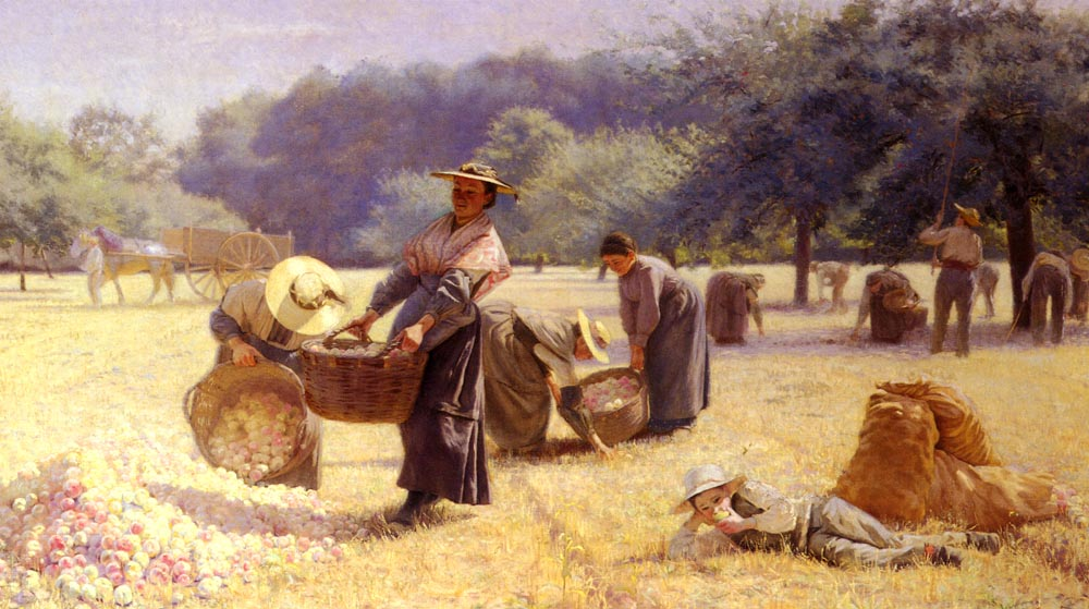 La Vendange De Pommes | Istres Contencin | Oil Painting