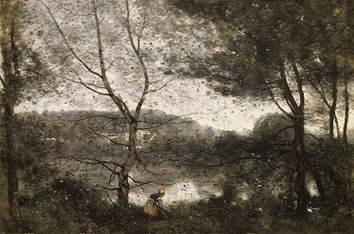 Ville dAvray 1870   Jean Baptiste Camille Corot   Oil Painting