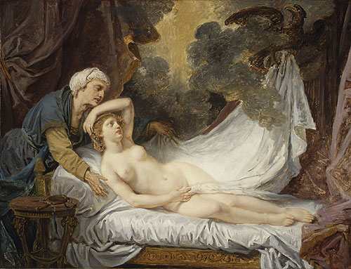 Aegina Visited by Jupiter 1767 | Jean Baptiste Greuze | Oil Painting
