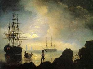 Fishermen on the Shore | Ivan Aivazovsky | Oil Painting