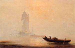 Fishing Boats In A Harbor | Ivan Aivazovsky | Oil Painting