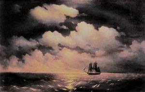 Merkuri 1848 | Ivan Aivazovsky | Oil Painting