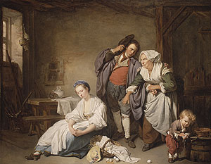 Broken Eggs 1756 | Jean Baptiste Greuze | Oil Painting