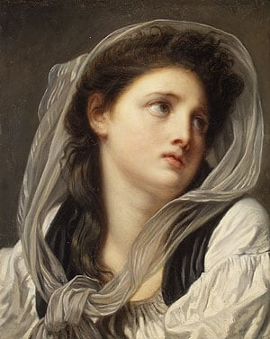 Head of a Young Woman mid 1770s | Jean Baptiste Greuze | Oil Painting