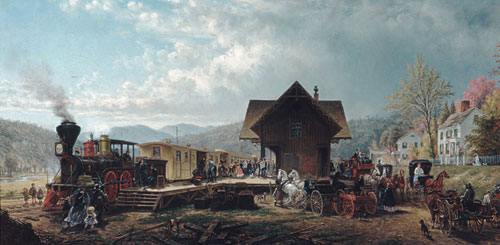 The 9 45 Accommodation 1867   Edward Lamson Henry   Oil Painting