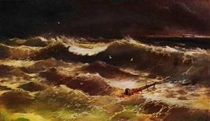 Storm 1886 | Ivan Aivazovsky | Oil Painting