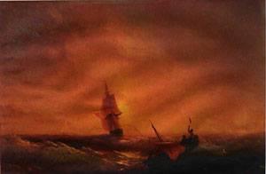 Survivors 1844 | Ivan Aivazovsky | Oil Painting
