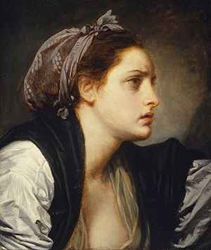 Study Head of a Woman | Jean Baptiste Greuze | Oil Painting