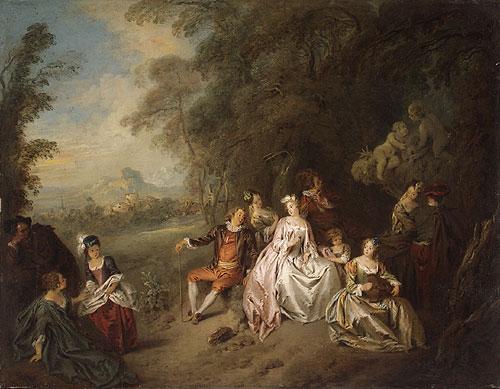 Concert Champre | Jean Baptiste Joseph Pater | Oil Painting