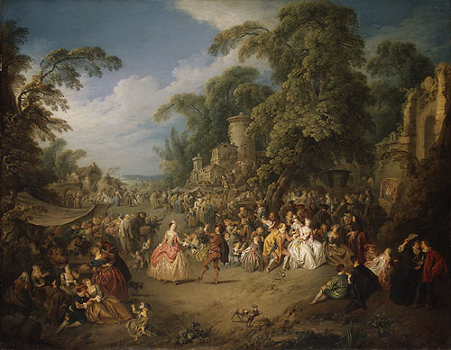 The Fair at Bezons ca 1733 | Jean Baptiste Joseph Pater | Oil Painting