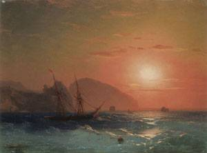 View Of The Ayu Dag Crimea | Ivan Aivazovsky | Oil Painting