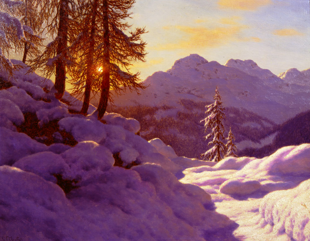 Snowy Landscape | Ivan Choultse | Oil Painting