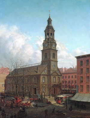 The North Dutch Church Fulton and William Streets New York 1869 | Edward Lamson Henry | Oil Painting