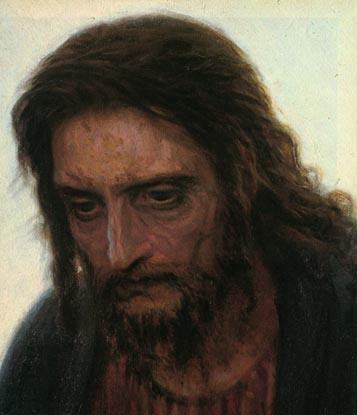 Christ detail | Ivan Nikolaevich Kramskoy | Oil Painting