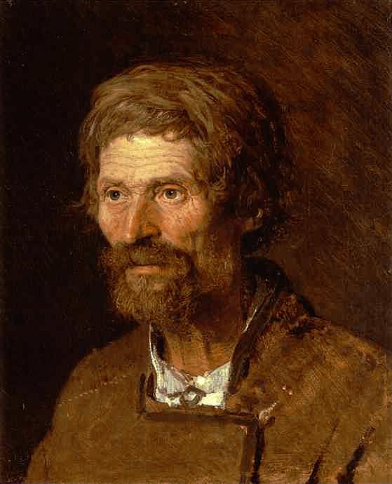 Head of an Old Ukranian Peasant | Ivan Nikolaevich Kramskoy | Oil Painting