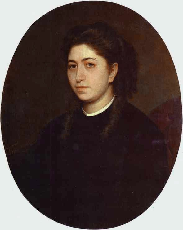 Portrait of a Young Woman Dressed in Black Velvet | Ivan Nikolaevich Kramskoy | Oil Painting