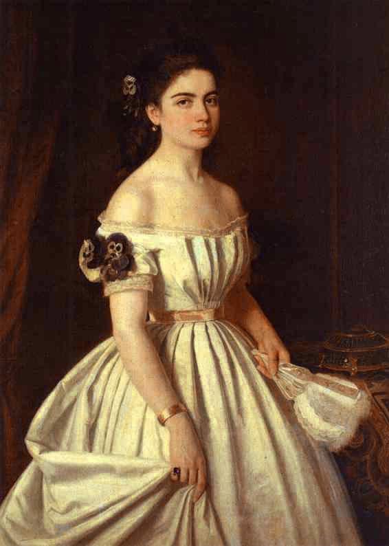 Portrait of E Vasilchikova | Ivan Nikolaevich Kramskoy | Oil Painting