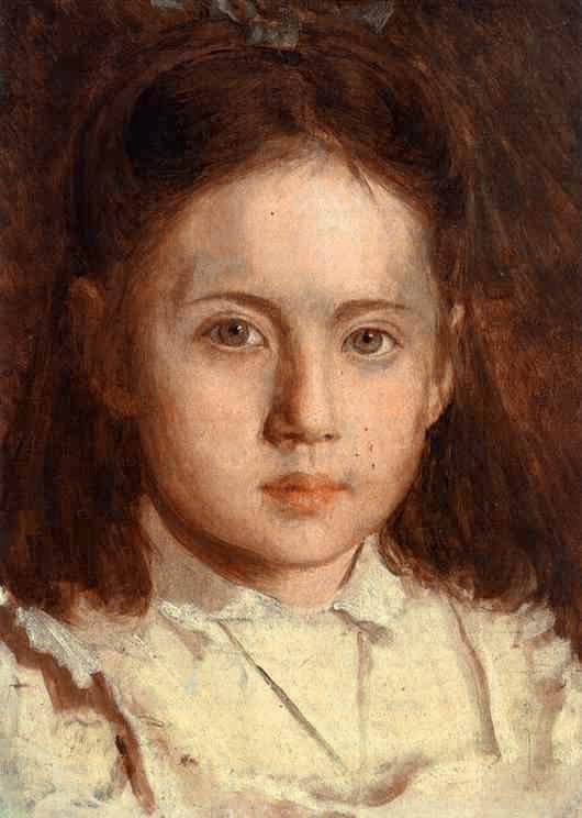 Portrait of Sonya Kramskaya the Artists Daughter | Ivan Nikolaevich Kramskoy | Oil Painting