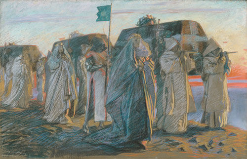 Dirge of the Three Queens 1895 | Edwin Austin Abbey | Oil Painting
