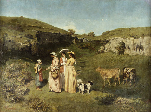Young Women from the Village 1852 | Jean Dir Gustave Courbet | Oil Painting