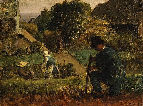 Garden Scene 1854 | Jean Francois Millet | Oil Painting