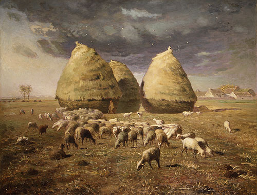 Haystacks Autumn ca 1874 | Jean Francois Millet | Oil Painting