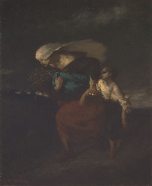 Retreat from the Storm ca 1846 | Jean Francois Millet | Oil Painting