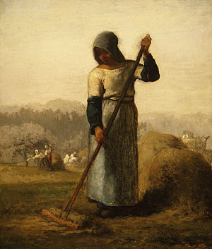 Woman with a Rake probably 1856 | Jean Francois Millet | Oil Painting