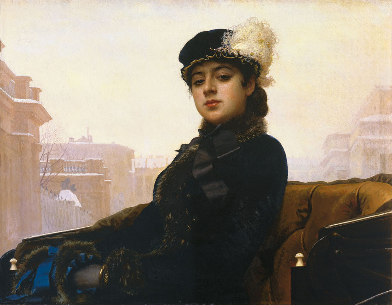 Portrait of a Woman | Ivan Nikolaevich Kramskoy | Oil Painting
