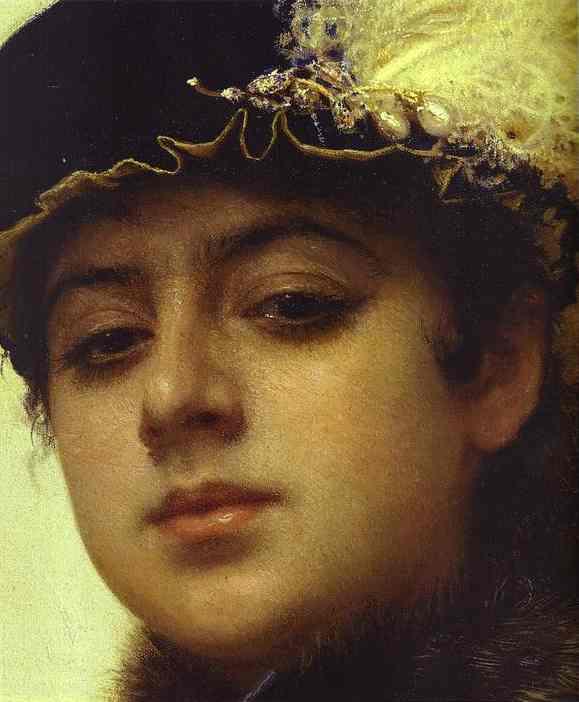 Portrait of a Woman detail | Ivan Nikolaevich Kramskoy | Oil Painting