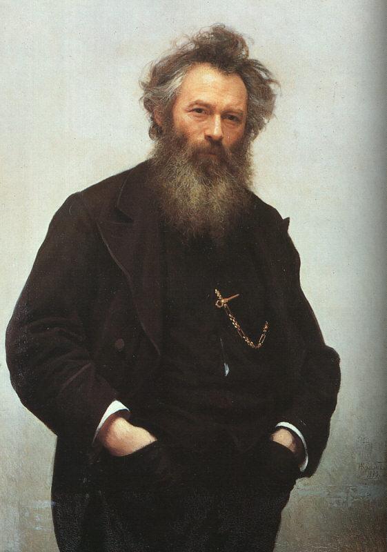 Portrait of Ivan I Shishkin | Ivan Nikolaevich Kramskoy | Oil Painting