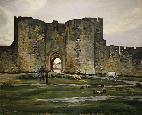 Porte de la Reine at Aigues Mortes 1867 | Jean Frederic Bazille | Oil Painting