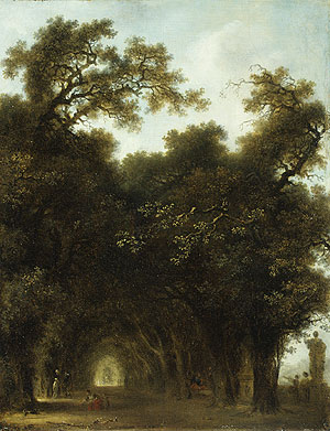 A Shaded Avenue probably 1773 | Jean Honore Fragonard | Oil Painting