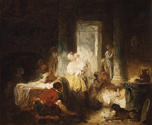 Italian Interior ca 1760 | Jean Honore Fragonard | Oil Painting