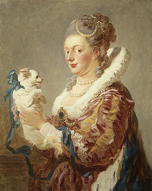 Portrait of a Woman with a Dog | Jean Honore Fragonard | Oil Painting