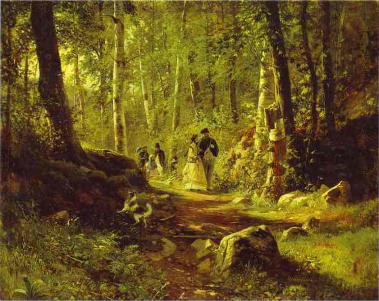 A Walk In The Forest 1869 | Ivan Shishkin | Oil Painting