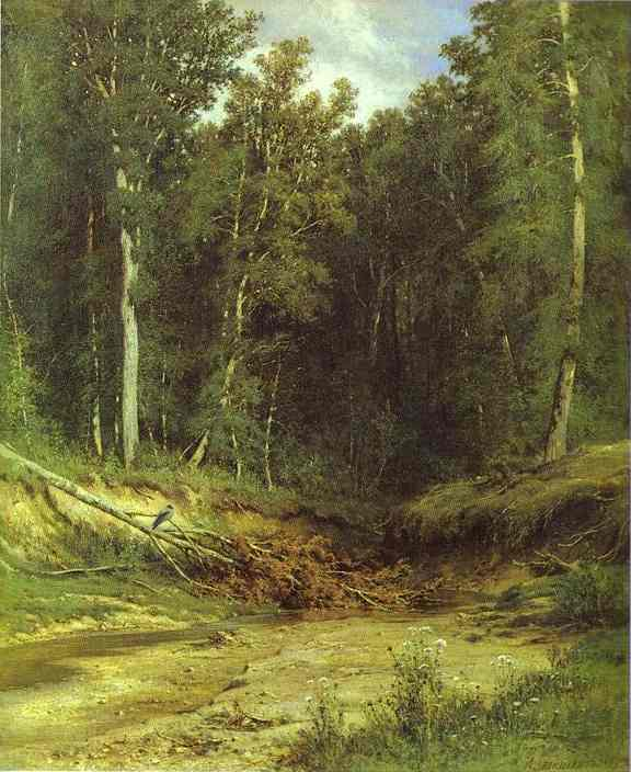 Forest Stream 1874 | Ivan Shishkin | Oil Painting